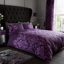 PRINTED DUVET SET EMPIRE DAMASK PURPLE