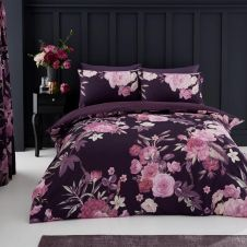 PRINTED DUVET SET FLORA PURPLE