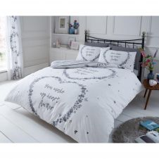 PRINTED DUVET SET FLUTTER GREY
