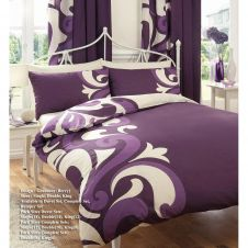 PRINTED DUVET SET GRANDEUR BERRY