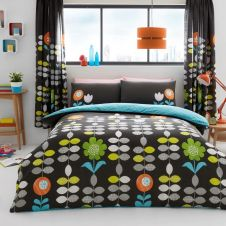 PRINTED DUVET SET HANSON BLACK