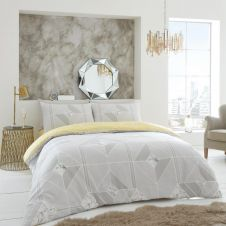 PRINTED DUVET SET HARMONY GREY