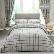 PRINTED DUVET SET HARTLEY CHECK GREY