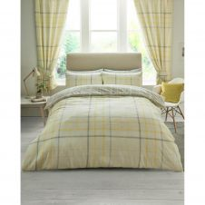 PRINTED DUVET SET HARTLEY CHECK MUSTARD