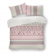 PRINTED DUVET SET HELSBY NATURAL
