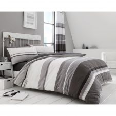 PRINTED DUVET SET HUDSON GREY