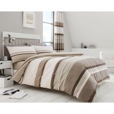 PRINTED DUVET SET HUDSON NATURAL