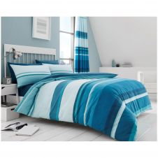 PRINTED DUVET SET HUDSON TEAL