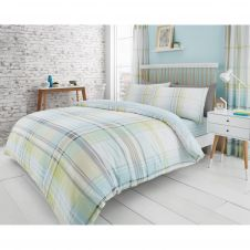 PRINTED DUVET SET JACKSON CHECK GREEN