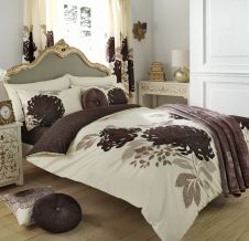 PRINTED DUVET SET KEW CREAM/NATURAL