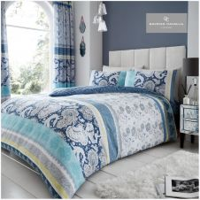 PRINTED DUVET SET KIRA BLUE