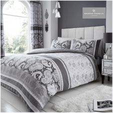 PRINTED DUVET SET KIRA GREY