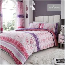 PRINTED DUVET SET KIRA PURPLE
