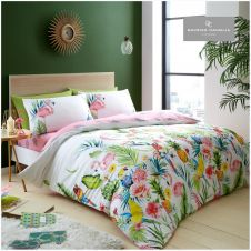 PRINTED DUVET SET LEILA WHITE