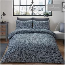 PRINTED DUVET SET LEOPARD SKIN GREY