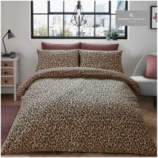 PRINTED DUVET SET LEOPARD SKIN NATURAL