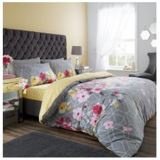 PRINTED DUVET SET LIVIA GREY