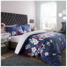 PRINTED DUVET SET LIVIA NAVY