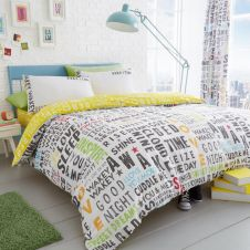 PRINTED DUVET SET LUCAS SINGLE