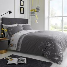 PRINTED DUVET SET LUCY GREY