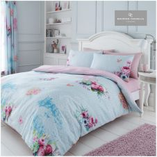 PRINTED DUVET SET MADELINE BLUE
