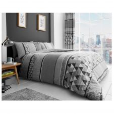 PRINTED DUVET SET MADISON GREY