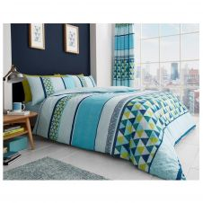 PRINTED DUVET SET MADISON TEAL