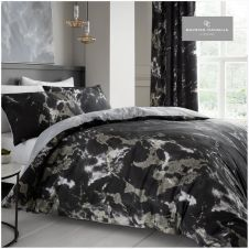 PRINTED DUVET SET MARBLE BLACK