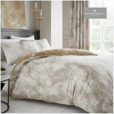 PRINTED DUVET SET MARBLE CREAM