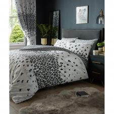 PRINTED DUVET SET MARBLE LEOPARD SINGLE