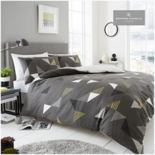 PRINTED DUVET SET MARCO GREY