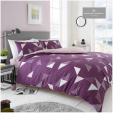PRINTED DUVET SET MARCO PURPLE