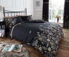 PRINTED DUVET SET MARIA BLACK/NATURAL