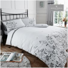 PRINTED DUVET SET MARIA GREY