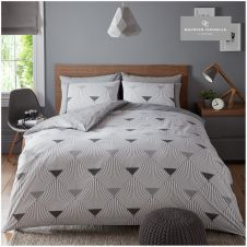 PRINTED DUVET SET METRO GREY