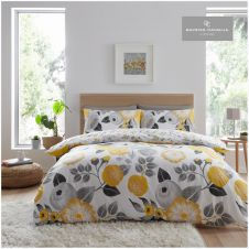 PRINTED DUVET SET NEVE YELLOW