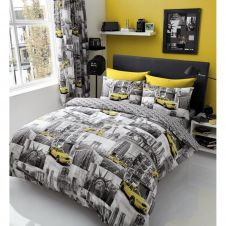 PRINTED DUVET SET NEW YORK PATCHI