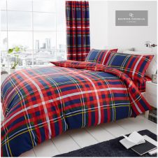 PRINTED DUVET SET NEWTON CHECK NAVY