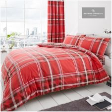 PRINTED DUVET SET NEWTON CHECK RED