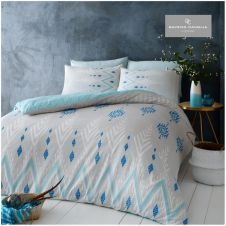 PRINTED DUVET SET NICO BLUE