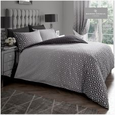 PRINTED DUVET SET OHARI OMBRE GREY