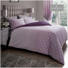 PRINTED DUVET SET OHARI OMBRE PURPLE