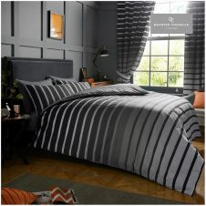 PRINTED DUVET SET OSCAR GREY