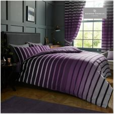 PRINTED DUVET SET OSCAR PURPLE