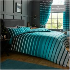 PRINTED DUVET SET OSCAR TEAL