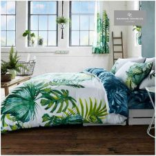 PRINTED DUVET SET TROPICAL LEAF