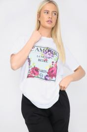 Printed L'AMOUR T-Shirt White