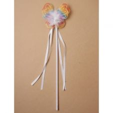 Rainbow Coloured Butterfly Wand