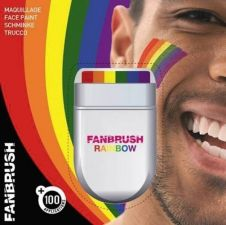 Rainbow Fan Brush Make-up