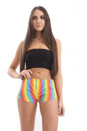 Rainbow Stripe Hot Pant